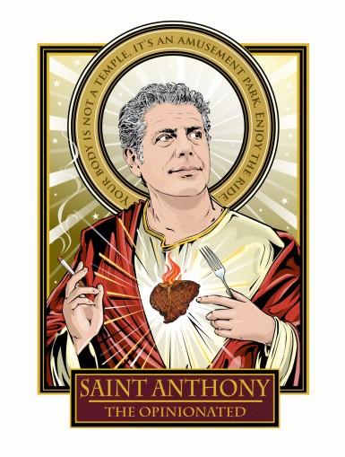 Saint Anthony Bourdain - Art courtesy of omakaseimages.com