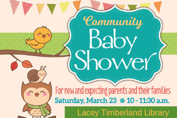 Community Baby Shower in Lacey - March 23 at 10 a.m.